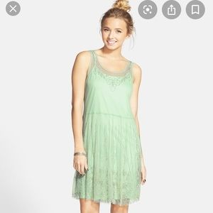 Seafoam beaded dress